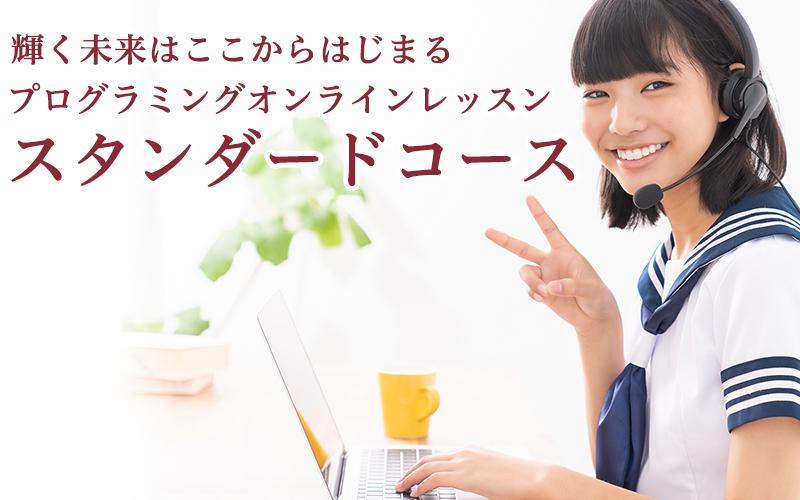 中学生、高校生向けオンラインプログラミングレッスン